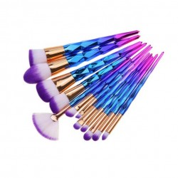 Purple Glitter Makeup Brush Set
